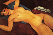 Reclining Nude Art Print by Modigliani, Amedeo