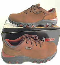 "Men's Rocky ""RKYK066""- Bigfoot Waterproof Brown Oxford Work Shoe Size 11 Wide"