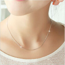 Women Lady Smooth Snake Chain Necklace With Lobster Clasp For Clavicle Chain
