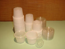 1 oz 2 oz Plastic Portion Cups Souffle Sauce with or without lid 50 CT 100 CT