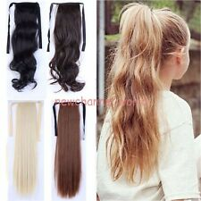 100% Thick Hairpiece Clip In Ponytail Hair Extensions Wrap Pony Tail for humans