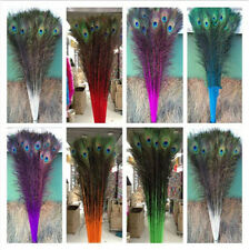 Beautiful 50-200 PCS peacock feathers eye 28-32 inches/70-80cm(16 colors)