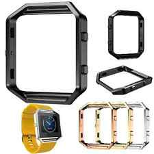 Stainless Strap Watch Band Steel Bracelet + Metal Frame +Glass For Fitbit Blaze