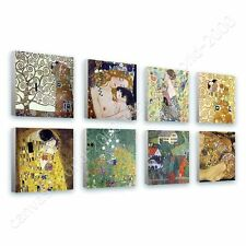CANVAS +GIFT Tree Life Kiss Woman Gustav Klimt Set Of 8 Paintings Wall Art