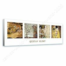 CANVAS +GIFT Tree Of Life The Kiss Water Serpents Collage Gustav Klimt Giclee