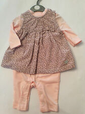 ROCK A BYE BABY BOUTIQUE BABY GIRLS 2 PIECE PINK/GREY SET 0/3M 3/6M 6/9M 9/12M