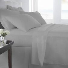 EGYPTIANCOTTON SHEET SET/DUVET/FITTED/FLAT/PILLOW SELCT SIZE SILVER GREY 1000TC