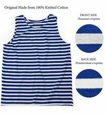 Russian USSR Telnyashka  Army VMF Navy Blue Marine Striped Sleeveless T-Shirt