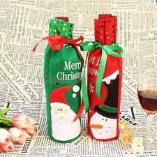 Christmas Sequins/Striped Stocking Wine Bottle Gift Bag Cover Pouch Holder 4Type