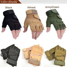Outdoor Half Finger Gloves Military Tactical Airsoft Hunting Riding Cycling Pop