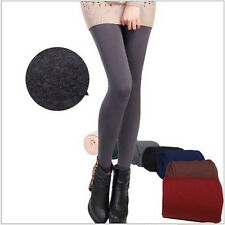 Winter Warm Skinny Slim Leggings Stretch Pants Thick Footless Charm chic hot