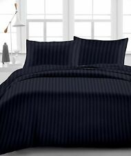 "New Organic Cotton 4 PCs/6 PCs Bed Sheet Set 1000 TC Drop 15"" Black Stripe"