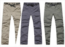 Hot Mens Outdoor Quick Dry Short Pants Zip Off Leg Hiking Trousers Removable