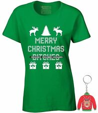 Merry Christmas B**ches Gifts Ladies T-shirt Ugly Christmas Shirt Xmas + Gift