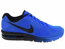 NEW MENS NIKE AIR MAX SEQUENT RUNNING SHOES TRAINERS RACER BLUE / BLACK