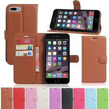 Luxury Folio PU Leather Flip Wallet Card Case Stand Cover For  iPhone 7 Plus