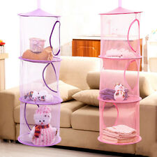 New 3 Shelf Hanging Storage Net Kids Toy Organizer Bag Bedroom Wall Door Closet