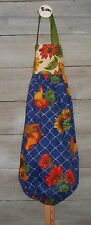 Roosters Sunflowers on  Sapphire Plastic Grocery Bag Rag Sock Holder HCF&D