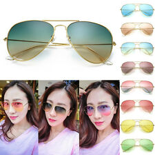 Women Men Gradient Sun Aviator Frog Mirror Unisex Sunglasses Eyewear New