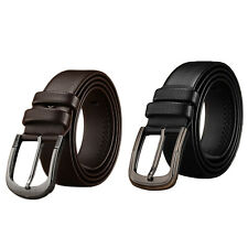 Fashion Casual Men's Leather Belt Pin Belts Waistband Alloy Buckle Waist Strap