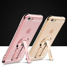 Soft TPU Rubber Gel Silicone Kickstand Case Cover for Apple iPhone 6 6S 7 Plus