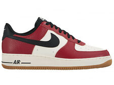 NEW MENS NIKE AIR FORCE 1 LOW BASKETBALL SHOES TRAINERS GYM RED / BLACK / GUM LI