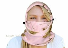 Realtree Pink Camo Hat Cap Headwear Neckwarmer Facemask Scarf Fleece Balaclava