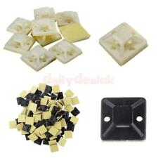 100pcs/pack Self Adhesive Cable Wire Zip Tie Mounts Clip Wall Holder 20/25/30mm