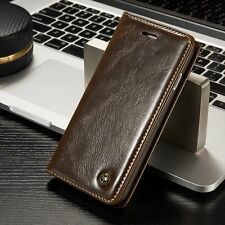 Genuine Flip Leather Wallet Magnetic Card Case Cover Skin For iPhone 7 / 7 Plus