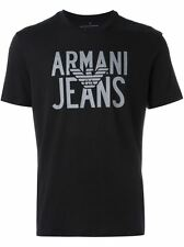 Shirt New T Fit Men Neck Logo Tee Standard Classic Crew S M L XL Armani Jeans