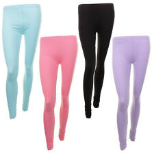 Ladies Designer Collection Full Length Stretch Colour Leggings In 4 Colours