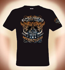 Biker T-Shirt EL BANDITO, custom made, Motorcycles Double print, Sizes S to 3XL