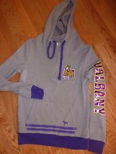 "VICTORIAS SECRET PINK RARE ""PINK"" UNIVERSITY ALBANY BLING COLLEGIATE HOODIE NWT"