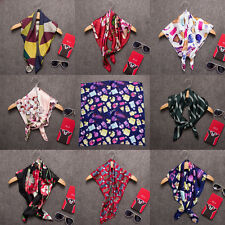 New Fashion Women Silk Big Satin Square Large Scarf Bandana Wrap Printing shawl