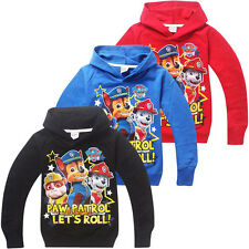 Hot Kids Girls Boys Casual Hoodies Long Sleeve PAW PATROL Cartoon Clothes 3-7 Y