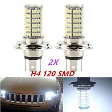 2x H4 120LED 3528SMD Xenon White Car Driving High Low Beam Fog HeadLight Bulb D#