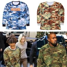 Yeezy Season 2 Woodland Military Camo Casual Extended Men Tee T Shirt Kanye West