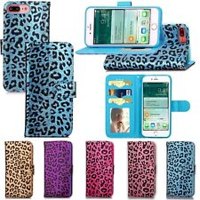 Fashion Leopard Leather Card Wallet Flip Stand Cover Case for iPhone 7 / 7 Plus