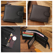 Man's Genuine Leather Bifold Wallet ID Credit Card Photo Holder Coins Purse Pop