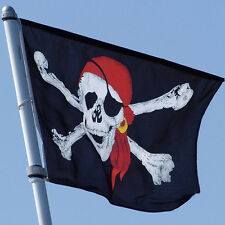 Large Skull Crossbones Pirate Flag Jolly Roger or Hanging With Grommet