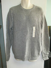NWT Mens Size Large Crewneck Sweater by Sonoma, Gray or Navy, Elbow Patches