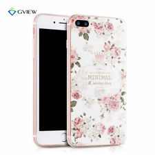 Rose Pattern Soft TPU Gel Rubber Phone Case Cover for Apple iPhone 6 6S 7 7 Plus