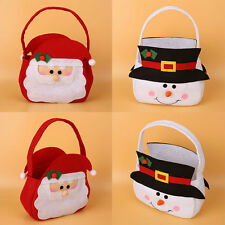 Christmas Santa Claus/Snowman Candy Gift Cloth Storage Hand Bag Decoration