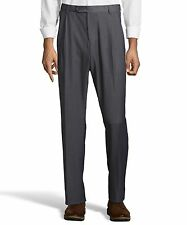Palm Beach Executive Grey Pleat Expander Dress Pants Big And Tall