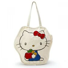 Hello Kitty My Melody Tote Bag Shoulder Shopping Purse Cotton Sanrio Japan S6110