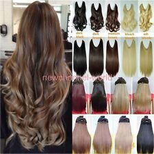 USA Long Straight Curly Piece Secret Wire Hair Piece Hair Extensions As Human cw