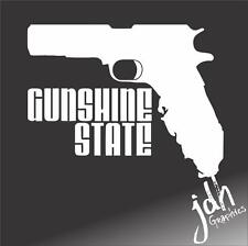 Gunshine State Pro Gun Vinyl Decal Sticker Funny Molan Labe Rifle Pistol Gun