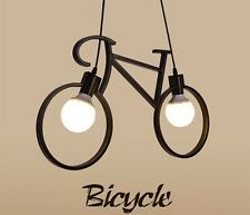 Novel Bicycle Shape Iron Pendant Lamp 85-220V E27 Holder Art Hanging Lamp Dropli