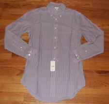 NWT Brooks Brothers Mens L/S Buttondown Shirt Original Polo Slim Fit Striped *1E