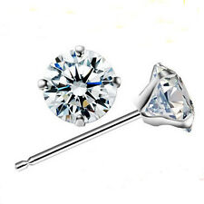 18k White Gold GP Austrian Crystal Lady Engagement Wedding Earrings Studs E188a